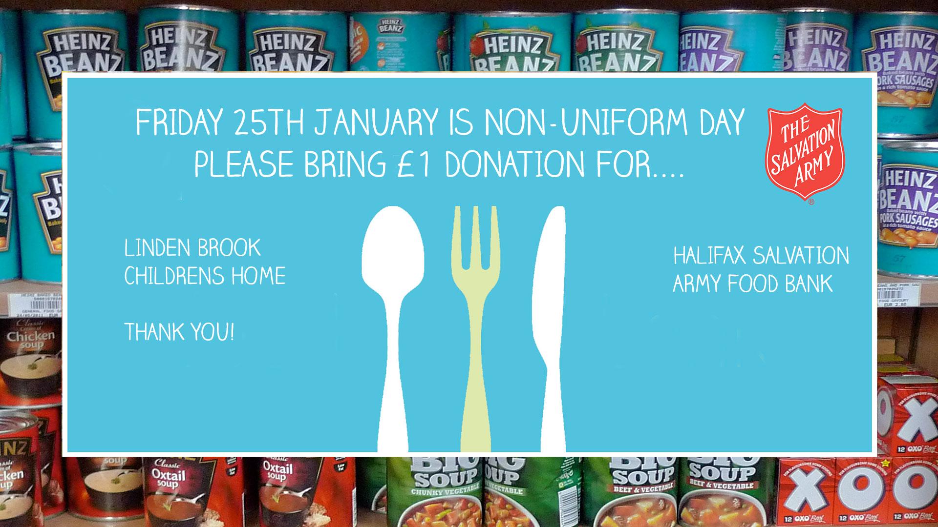 Friday 25th January Non-Uniform day