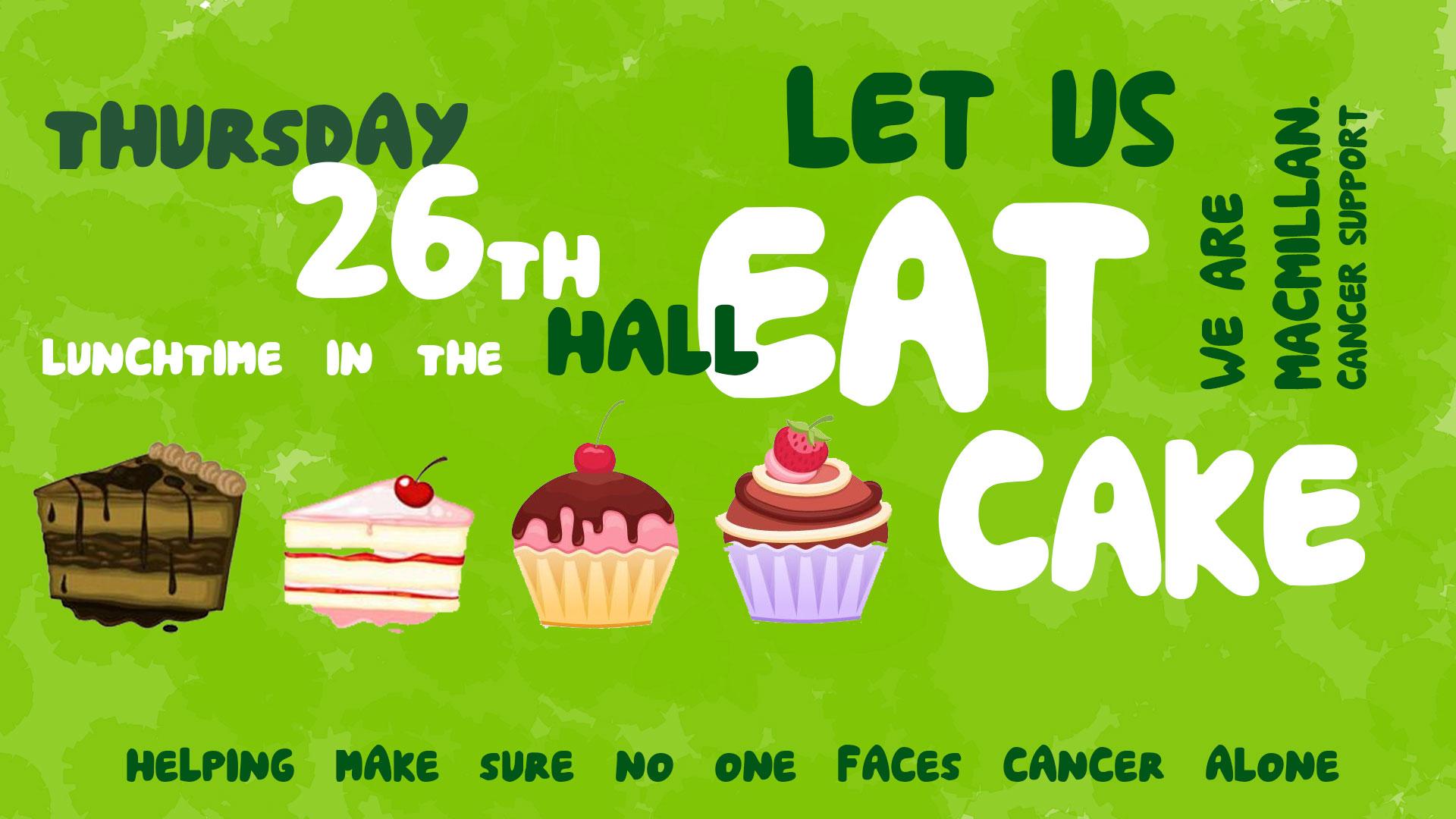 Macmillan Bake Sale 26th September